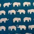 Bio-Popeline Birch Elefanten petrol