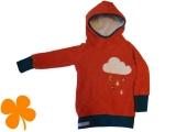 Hoodie Baumwollfleece orange, Wolke
