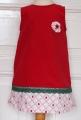 Kleid Feincord rot, Vintagestoff Marienkäfer