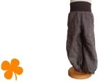 Leinenhose / Knickerbocker braun gestreift
