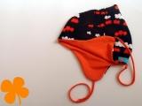 Wendemütze Eisenbahn braun Jersey orange