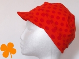 Beanie Punkte rot orange