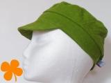 Schirmmütze Bio-Leinen grün