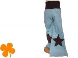 Schlaghose Sterne braun - staubaqua