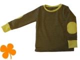 Shirt Ringel oliv mit Patches