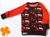 Shirt Eisenbahn mit Frottee orange