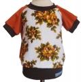 Shirt Frottee Blumen braun