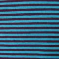 Jersey Streifen blau-aubergine