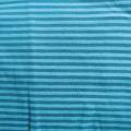 Jersey Streifen türkis-hellblau