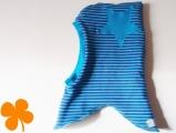 Schalmütze blau-türkis
