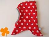 Schalmütze Interlock Sterne rot