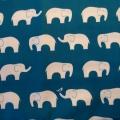 Bio-Baumwolle Birch Elefanten petrol
