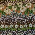 Vintage Frottee Blumen grün