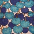 Vintage Frottee Blaue Kirschen