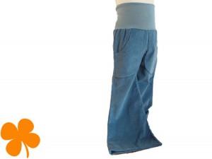 Schlaghose Cord taubenblau